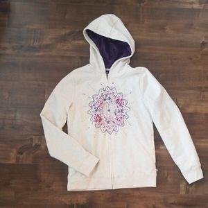 Lucky Brand Girl's Plush Hoodie Sweatshirt